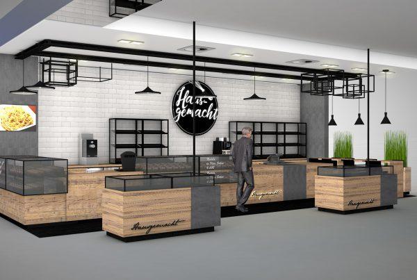 Convenience Store Gastronomie Visualisierung Nette+Hartmann Hamburg Shopdesign Innenarchitektur
